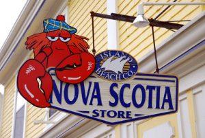 Nova Scotia Store Schild mit Lobster