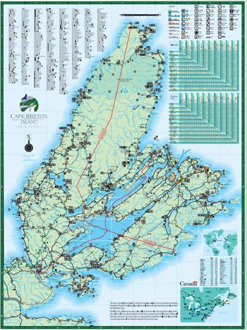 Cape Breton Island Karte - Bitte klicken