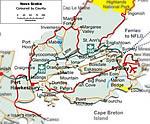Karte von Cape Breton Island